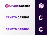CryptoCasinos.com Logotypes igaming affiliate online caisnos casino logotype logo cryptocurrency casinos crypto