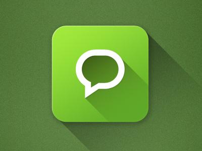 Ios 7 chat Icon chat icon message icon rebound ios 7 ios7 flat