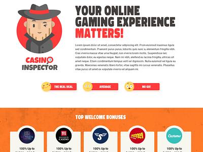 casino inspector logo web design online casino igaming detective inspector bonuses casino list affiliate toplist casino