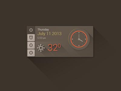 Time/date/weather widget