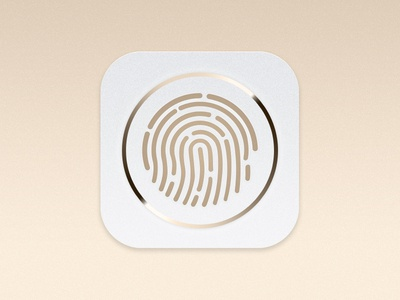Touch Id touch id fingerprint finger print icon apple iphone 5s 5s