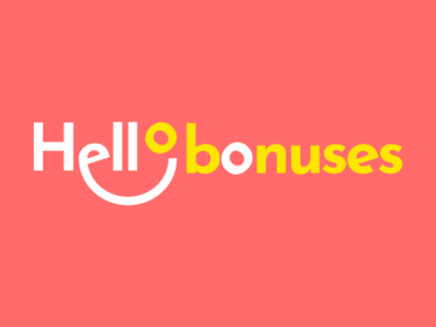 Hello Bonuses Logo Design smile logo affiliate casino bonus hello