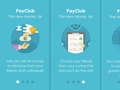 Onboarding application slider app ois illustrations pay club onboarding