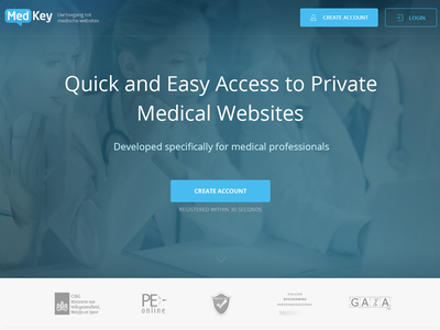 Medical Landing Page design sign up sales page long page landing page
