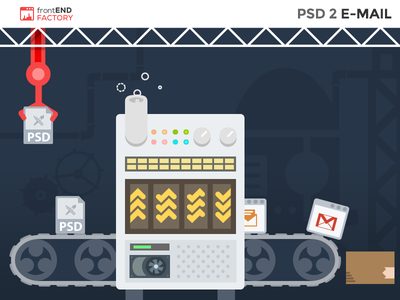 PSD 2 Email services illustration factory frontend template email psd psd2email
