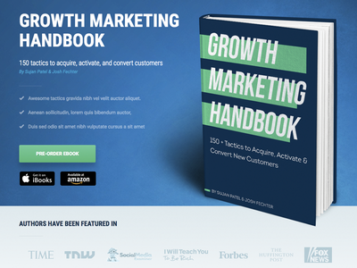 Sujan Patel New Book Landing Page prelaunch page pre-order landing page landing page design book page design