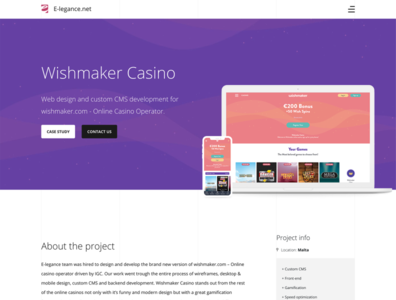 Online casino project web design