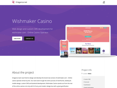 Online casino project web design casio casinos affiliate web development slots casino games portfolio page web design betting igaming gambling casino online casino