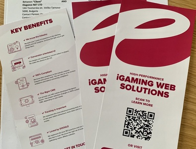 iGaming Brochure for conference affiliate marketing casino design casino games web development. web design affiliate casino igaming