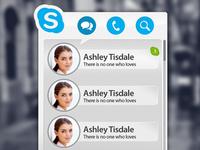 Min Skype app Rebound