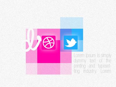 Dribble Twitter Rebound twitter dribble rebound buttons pixel contrast noise