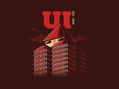 Administrative Center of University of Indonesia vector vector art universitas indonesia t-shirt illustraion design