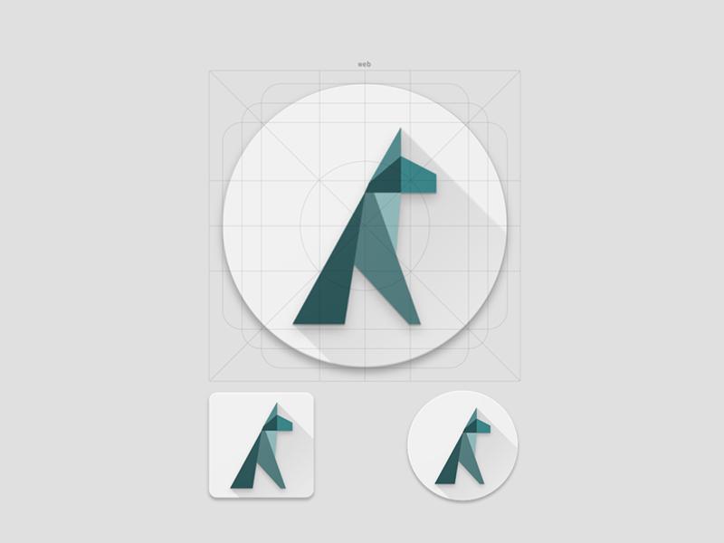 Argos Dog // Logo Design triangle geometric green design visual logo dog