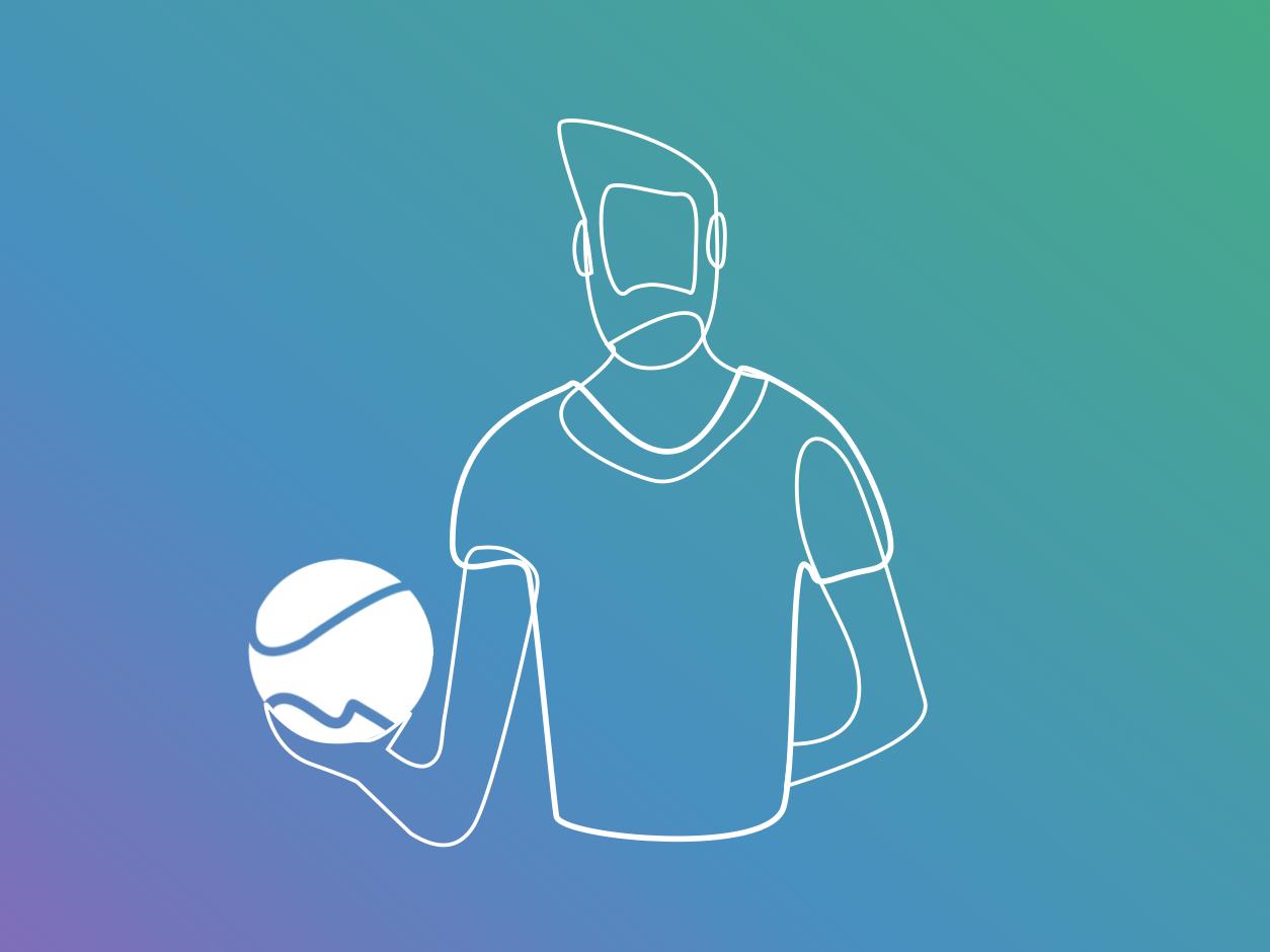 Trainer John branding icon art logo design vector minimal gradient illustration sport