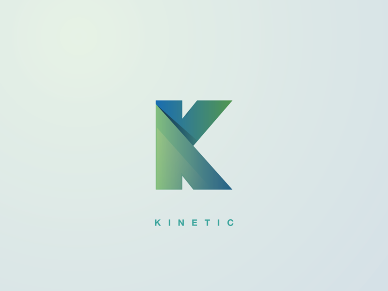 Kinetic flat concept vector color gradient minimal design logotype logodesign logo