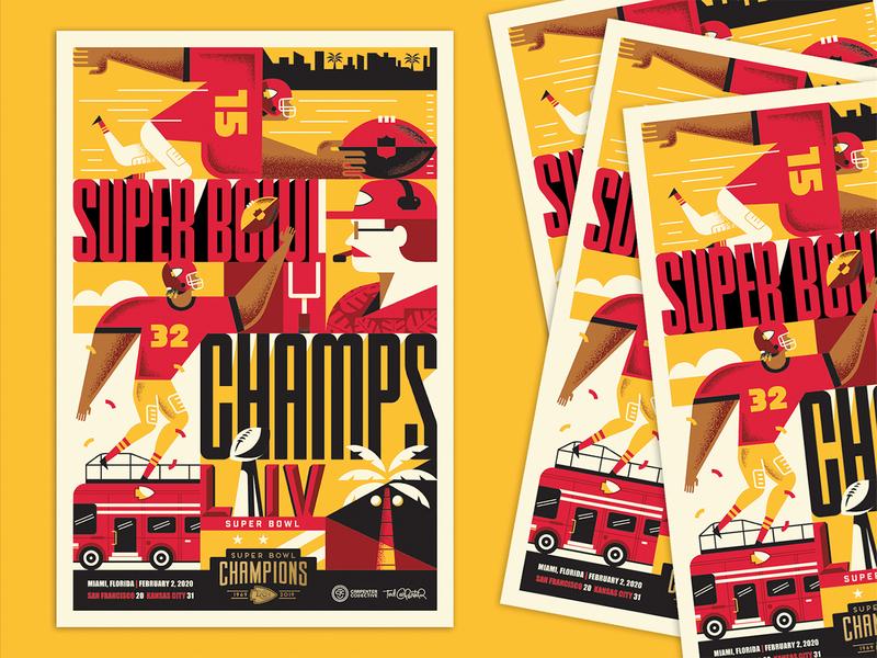 Chiefs Official Super Bowl Poster! poster super bowl liv mahomes andy reid chiefs nfl football super bowl