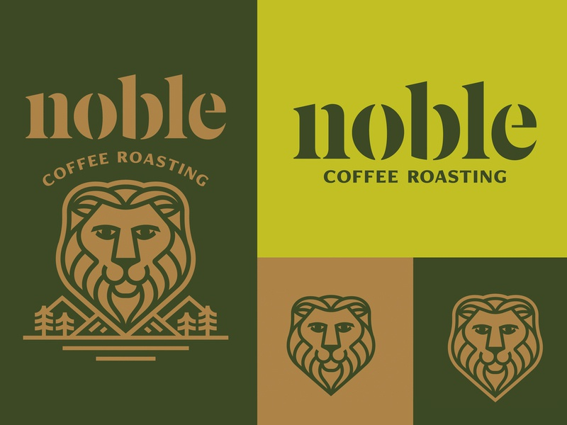 Noble Coffee Roasting Co Rebrand identity design logo icon badge seal coffee fruit coffee branding branding coffee packaging coffee lion
