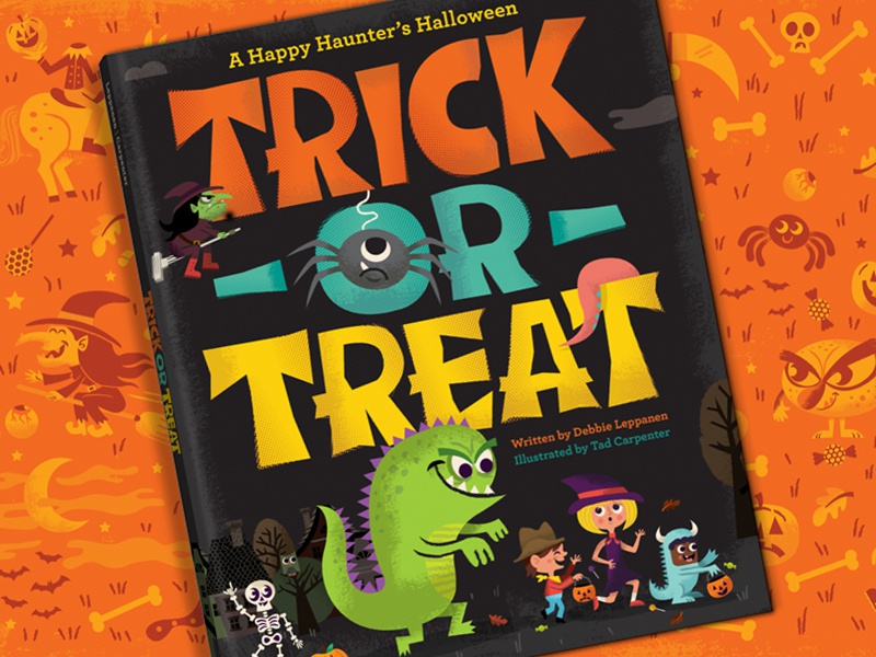 Trick or Treat: A Happy Haunters Halloween halloween orange monsters trick or treat skeleton spider childrens book