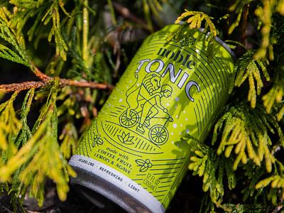 Noble Tonic Packaging beverage design beverage packaging beverage tonic agave lemon bicycle lion can design can packaging coffee packaging