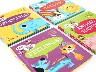 Two new I Say, You Say books dog books sun childrens books cat feelings colors elephant rooster