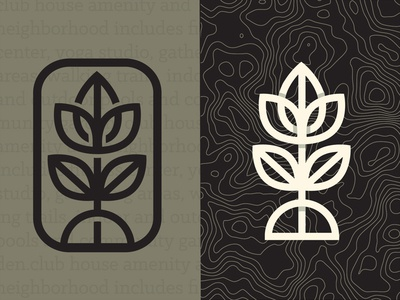 Logo concept logo flower icon iconography stroke bold seal stamp leaf pattern branding topography