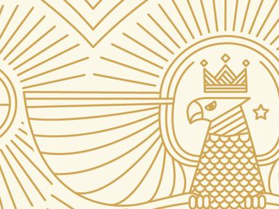 Snowboard Exploration gold bird hawk star sun stroke vector snowboard rays eagle crown king