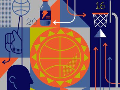 SUNday-Suns DOT COM basket grid triangles arrows gatorade hand march madness hoops basketball suns