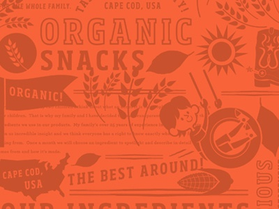 Packaging Pattern Play flag sun sustainable kids family swing natural organic food packaging