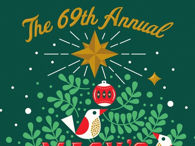 Holiday Campaign WIP merry x-mas ornament christmas tree pine needles pine tree type light star bird christmas wip