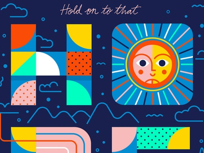 Hope usa clouds mountains color shapes type lettering typography sun hope