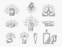Boulevard Beer Hall Icons