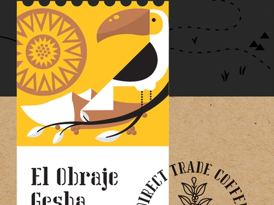 Coffee Roasting Co. rebrand/packaging exploration  tree mountains seal stamp brand identity branding packaging colombia toucan coffee roasting sun coffee