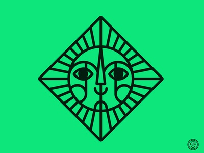 SUNday Sun No. 129 passion project play sunshine planet iconography diamond sunday lines logo icon sun