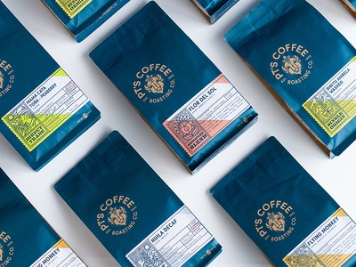 PT's Coffee Roasting Rebrand rebrand bag late espresso farmer cup flower coffee beans bison packaging coffee