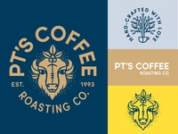 PT's Coffee Roasting brand assets