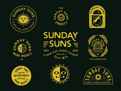 Sunday Sun No. 167 icon branding bird brand identity icons logo sunday suns sun