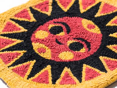 Sunday Sun 173 mark icon textile fabric rug sunday sunshine sun