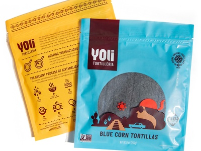 Yoli Tortilleria Packaging iconography icons cactus car mexico girl package design packaging tortilla