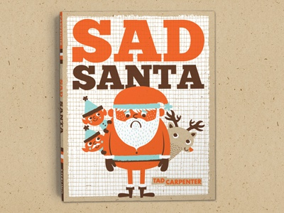 Sad Santa Out Now! santa sad sad santa illustration christmas reindeer elf book design color jolly