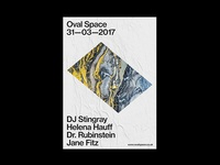 Oval Space Poster Design