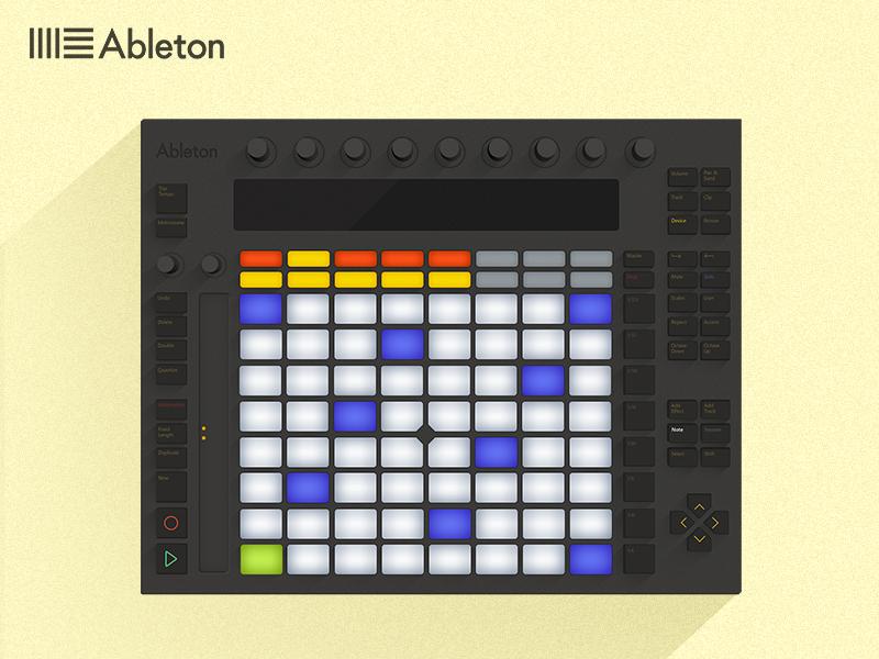 Ableton Push flat ableton push illustration music electronic