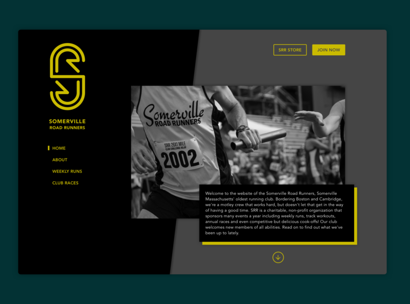 Somerville Road Runners - Landing Page