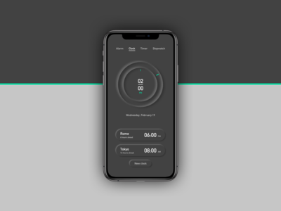 Minimalist Clock UI