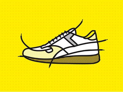 Laces yellow logotype logo shoe laces