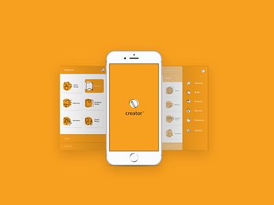 Creator app skills creative project illustration graphicdesign brief concept appdesign app design