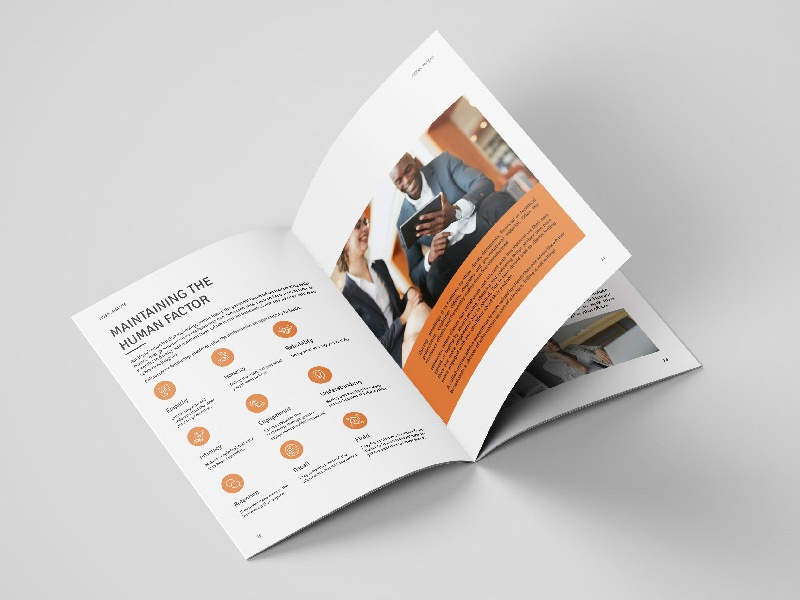 Finsol Systems Brochure symbol business layout corporate brochure print design graphic design