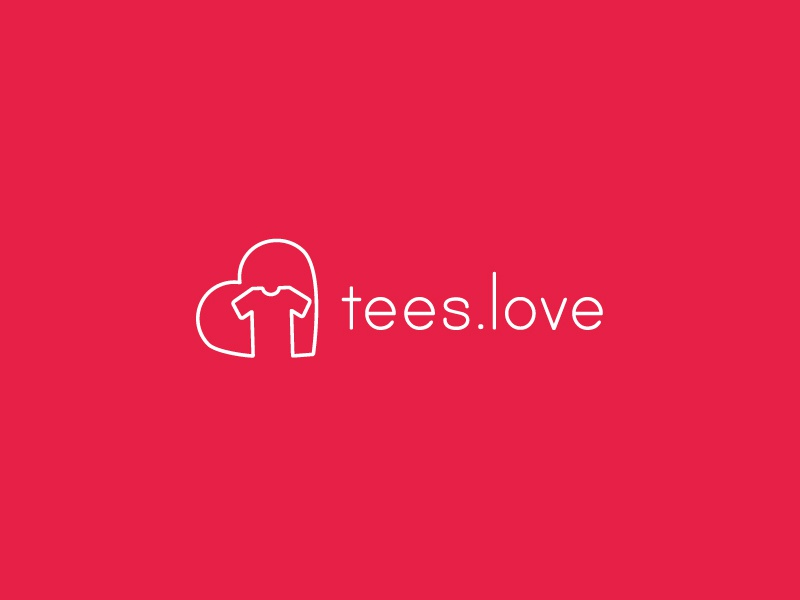 Tees.Love logo identity vector typography design graphic design icon symbol merchandise tshirt logo