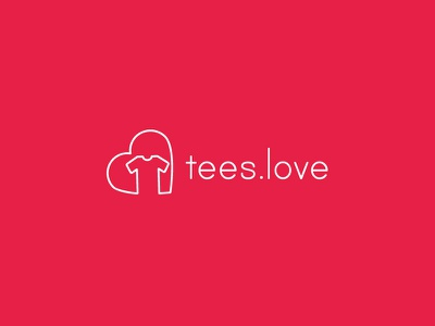 Tees.Love logo identity vector typography design graphic design icon symbol merchandise tshirt logo