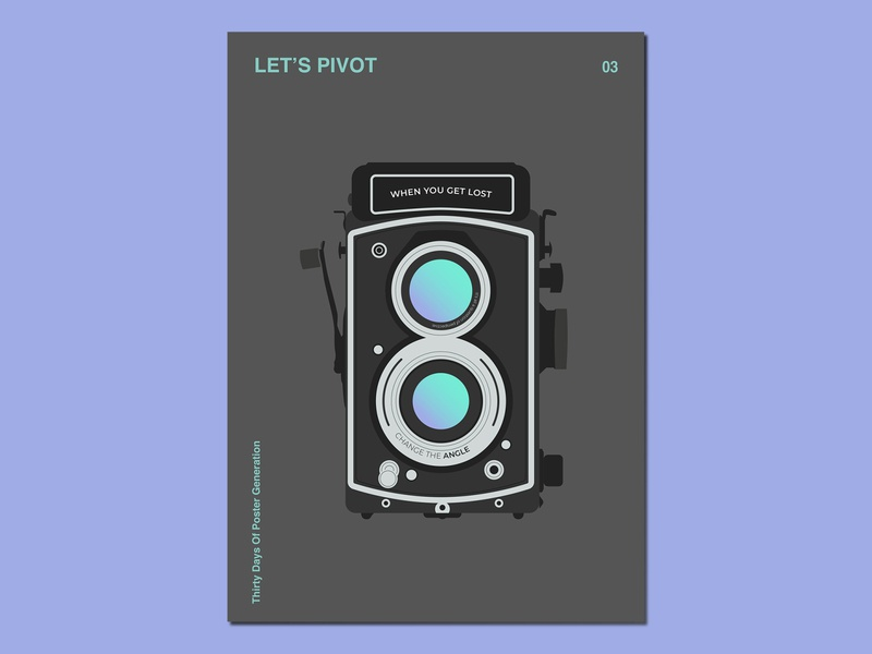Day03 : Let's Pivot 30daychallenge gradients illustration graphic design