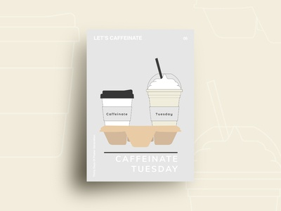 Day06 : Let's Caffeinate illustration 30daychallenge flat design graphic design